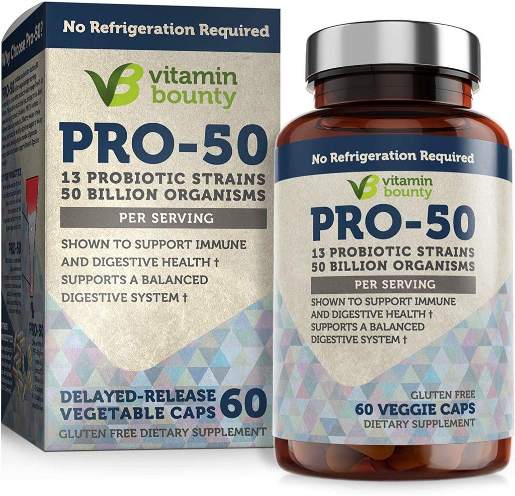 Vitamin Bounty Pro 50 Probiotic with Prebiotics